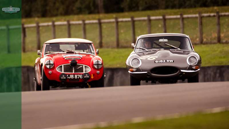 [Video] Jaguar E-Type and Austin Healey battle at Goodwood
