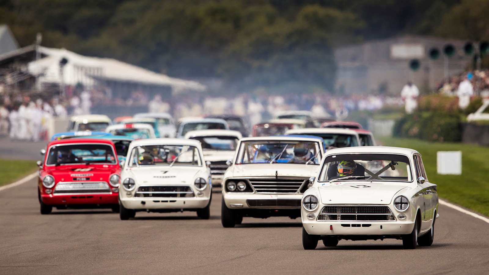 Goodwood Speedweek St mary's Trophy start Cortina Barracuda
