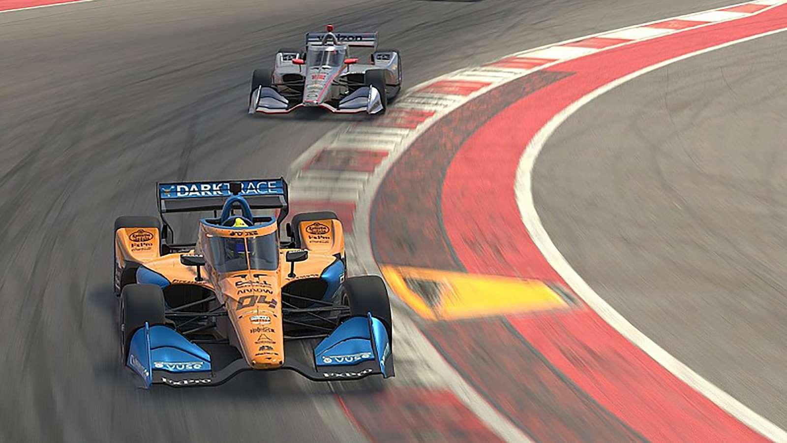 Lando Norris races to victoy in his IndyCar esports debut