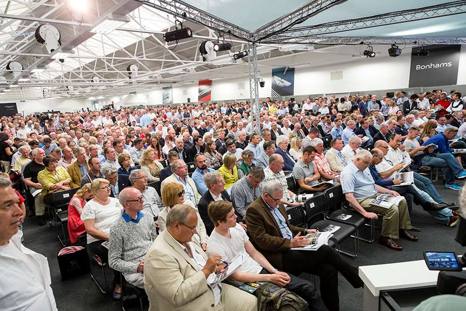 A packed saleroom at Aston Martin Works (3) copy