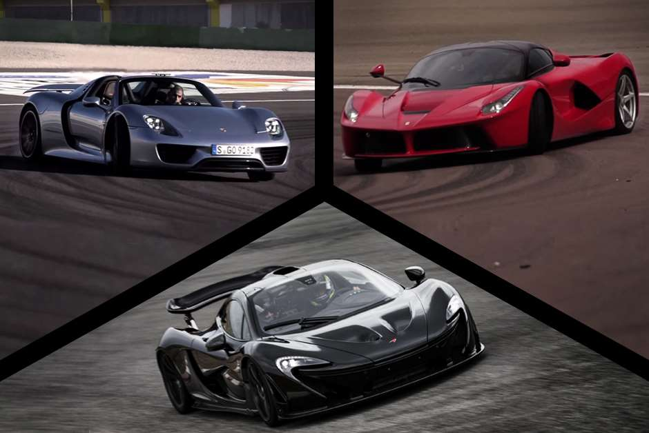 Chris Harris McLaren P1 Ferrari LaFerrari Porsche 918 winner test