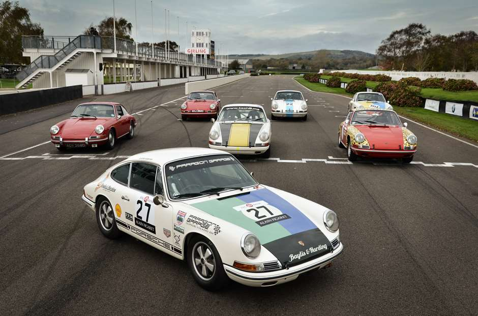 Robert Barrie Porsches at Goodwood