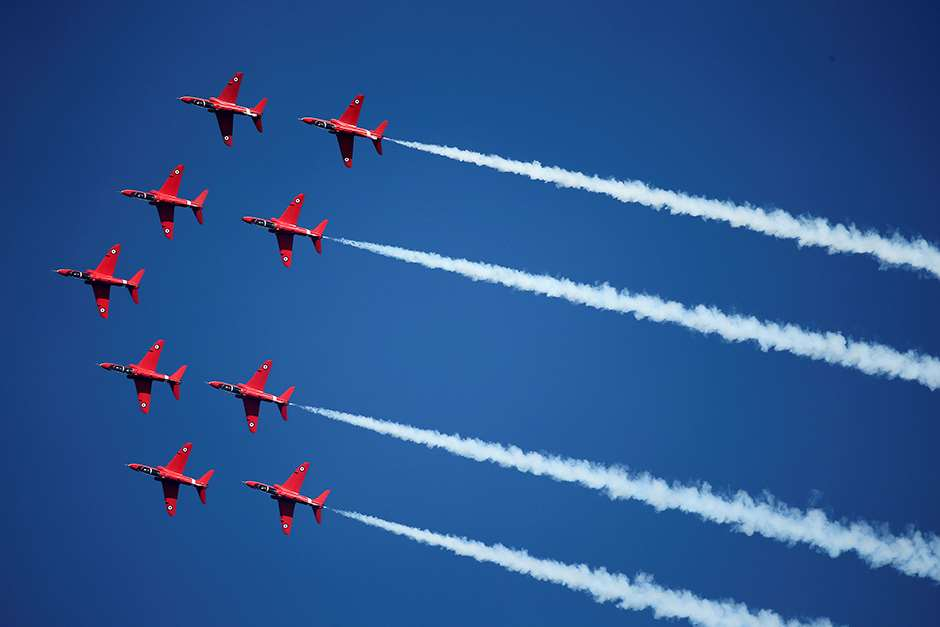 Red Arrows Spring Hawk 2015.