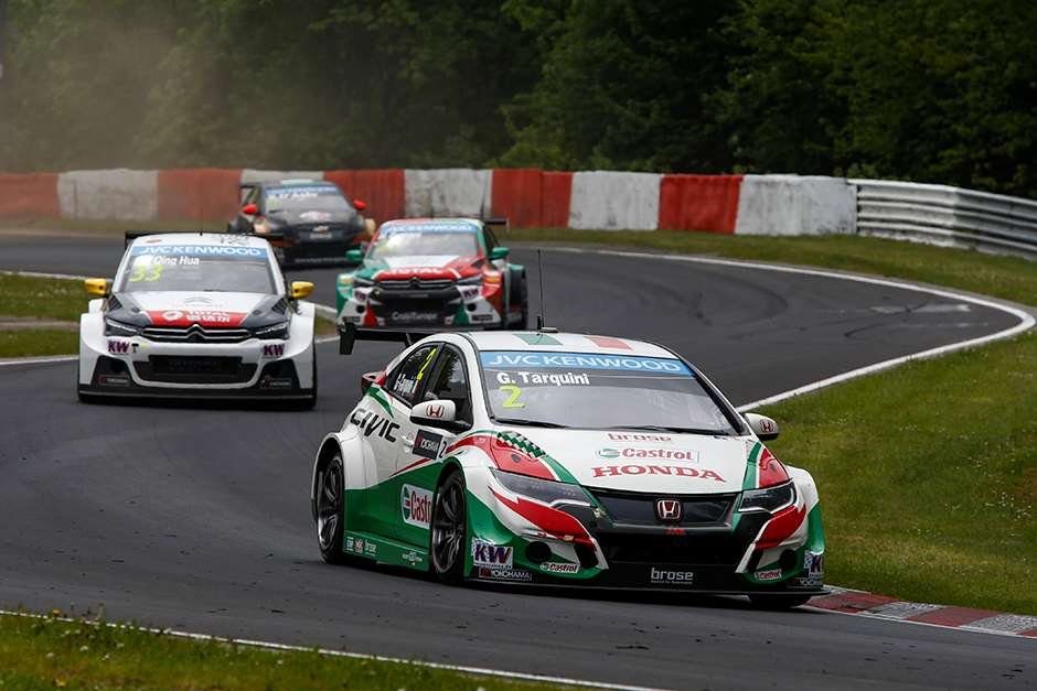 WTCC Nurburgring 02 TARQUINI Gabriele (ita) Honda Civic team Honda racing Jas action during the 2015 FIA WTCC World Touring Car Race of Nurburgring, Germany from May 15th to 17th 2015. Photo Florent Gooden / DPPI.