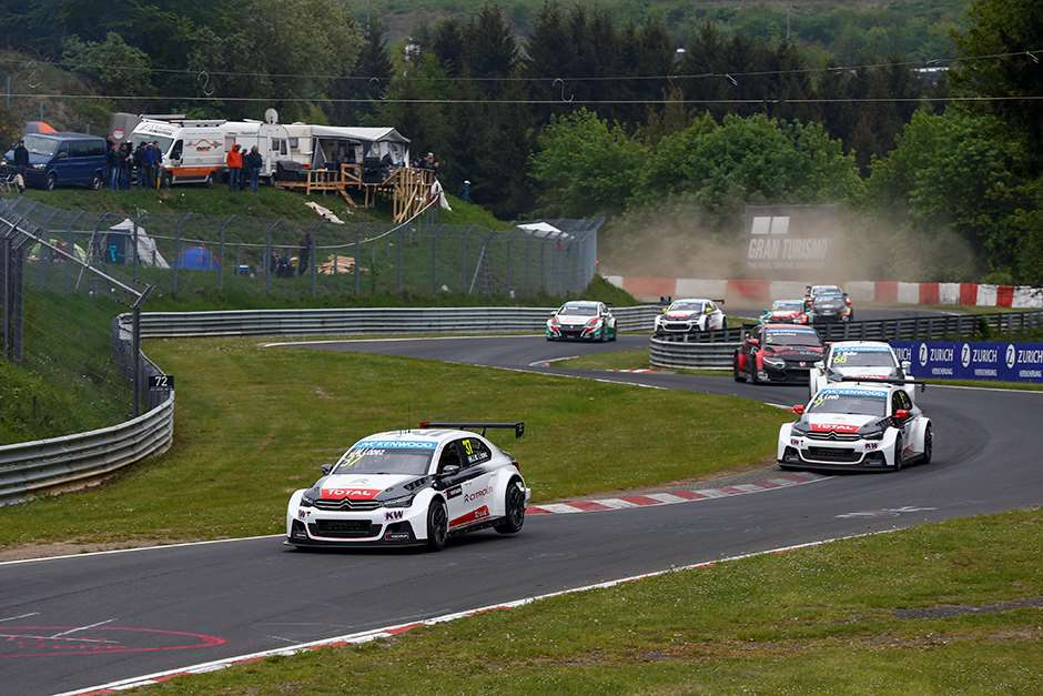 WTCC Nurburgring  37 LOPEZ Jose Maria (arg) 09 LOEB Sebastien (fra) Citroen C Elysee team Citroen racing action during the 2015 FIA WTCC World Touring Car Race of Nurburgring, Germany from May 15th to 17th 2015. Photo Florent Gooden / DPPI.