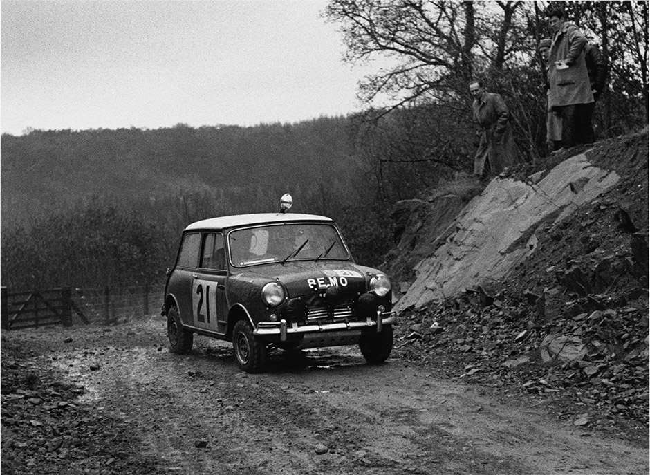 England. 12th - 16th november 1963. Paddy Hopkirk/Henry Liddon, Mini-Cooper S, 4th position overall, action. World Copyright: LAT Photographic. Ref: L63/361/11-11A.