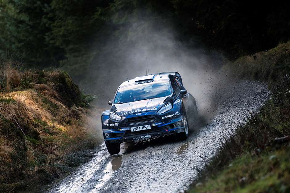 Elfyn Evans races during the FIA World Rally Championship 2014 in Wales, United Kingdom on November 14th, 2014 // Jaanus Ree/Red Bull Content Pool // P-20141116-00095 // Usage for editorial use only // Please go to www.redbullcontentpool.com for further information. //