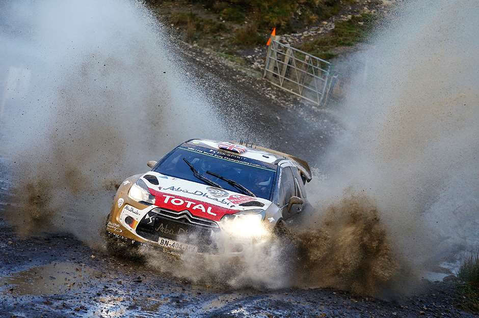 Kris Meeke races during the FIA World Rally Championship 2014 in Wales, United Kingdom on November 14th, 2014 // McKlein/Red Bull Content Pool // P-20141117-00153 // Usage for editorial use only // Please go to www.redbullcontentpool.com for further information. //