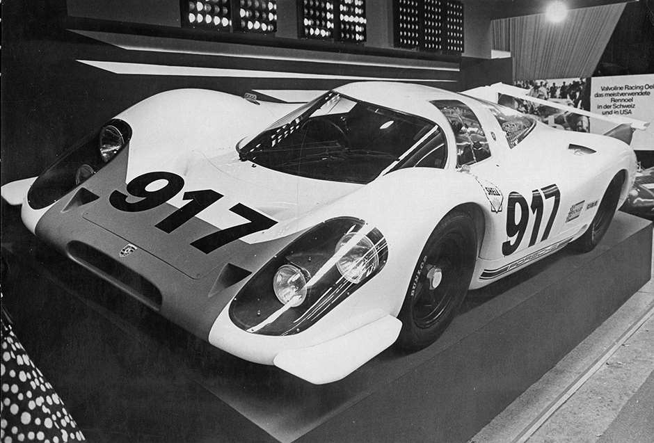 WOW factor 1 - Porsche 917 launch - Geneva Salon 1969