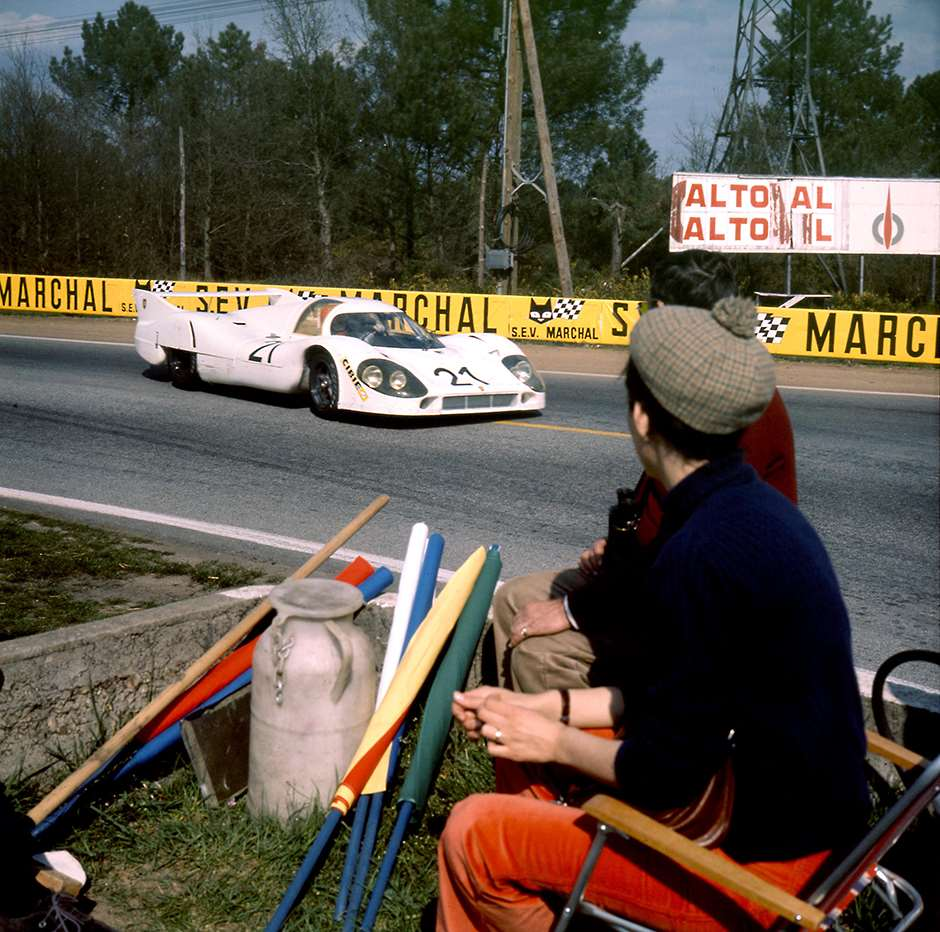 917 Langheck prototype at the Le Mans Test Weekend, 1971