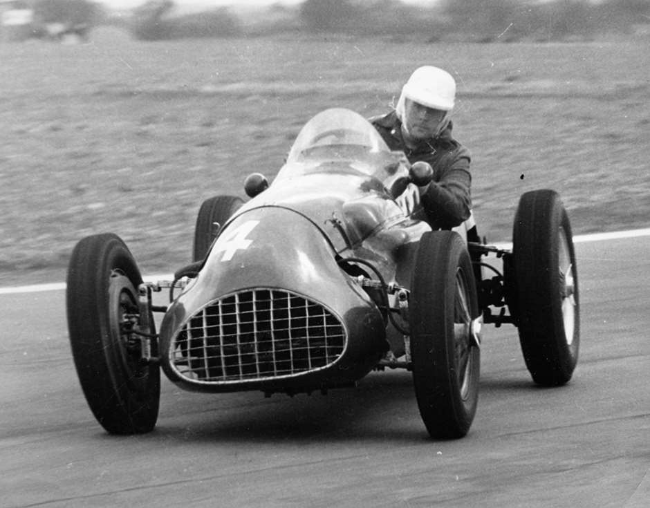 Jack Brabham's northern hemisphere debut - 1955 Easter Monday Goodwood, speedway style in Cooper-Alta: