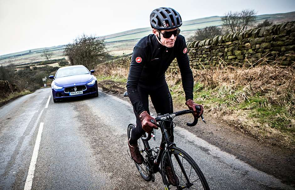 Picture by Alex Whitehead/SWpix.com - 17/03/2015 - Cycling - Maserati Cycling Launch - Yorkshire, England - Former pro-cyclist and Maserati GB brand ambassador David Millar pictured to launch Maserati Cycling and announce Maserati as the title sponsor of the Tour de Yorkshire Ride.