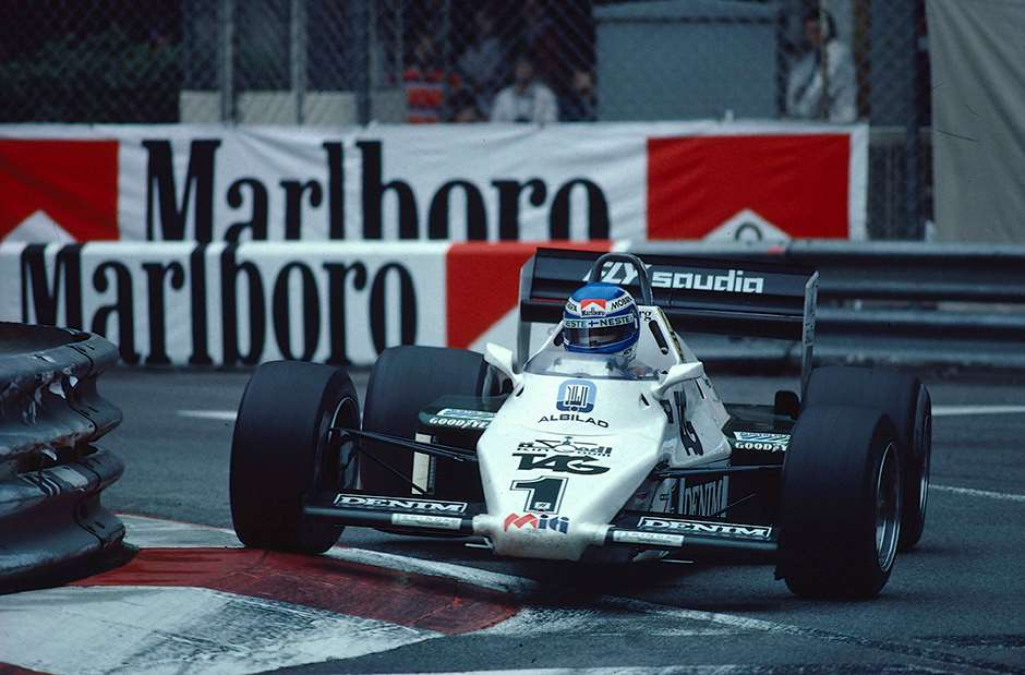 1983 Monaco Grand Prix. Monte Carlo, Monaco. 12-15 May 1983. Keke Rosberg (Williams FW08C Ford) 1st position at the exit of swimming pool. Ref-83 MON 12. World Copyright - LAT Photographic