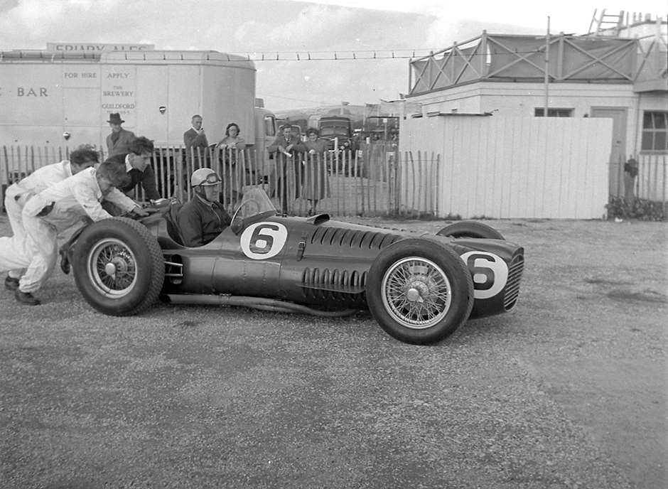 By the time the BRM V16 became a frequent winner, in 1953, it was a much more ugly car! 'Uncle Reg' again, in the Goodwood paddock...