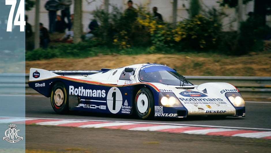Le Mans, France. 31st May - 1st June 1986. Hans-Joachim Stuck /Derek Bell /Al Holbert (Porsche 962C), 1st position, action. World Copyright: LAT Photographic Ref: 86LM11.