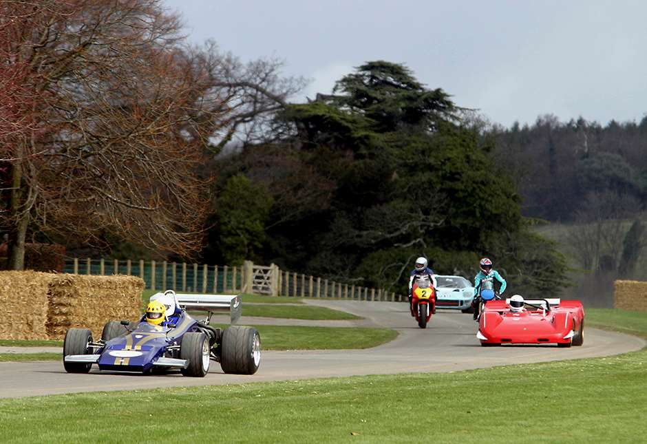 2004 Goodwood Festival Of Speed Press Day, Wednesday 24th March 2004. Mike Wilds leads the field. Action. World copyright: Gary Hawkins/LAT Ref: Digital image only.
