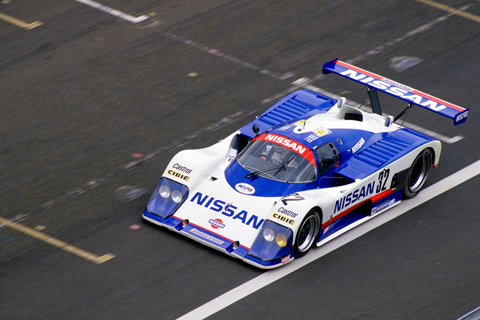 Le Mans, France. 11th - 12th June 1988 Allan Grice/Mike Wilds/Win Percy, March 87G Nissan R88C, 14th position, action. World Copyright: Bill Murenbeeld/LAT Photographic ref: 88LM65
