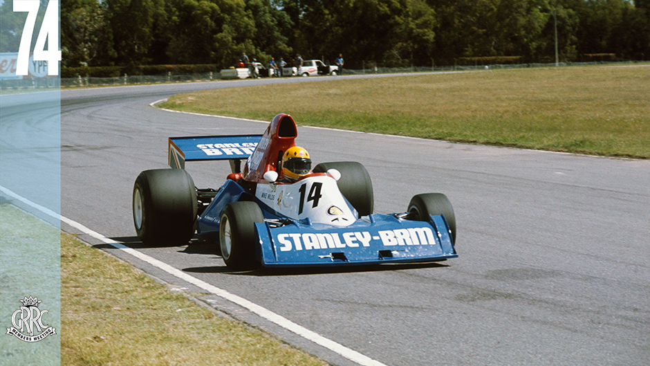 Watkins Glen, New York State, United States. 6 October 1974. Mike Wilds. Ensign-Ford N174, retired, action. World Copyright: LAT Photographic. Ref: 74USA30.